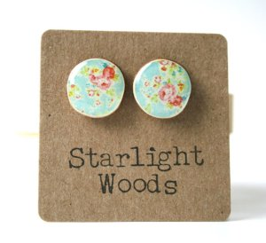 Blue Eco Friendly Studs, Starlight Woods (Etsy). $25.53